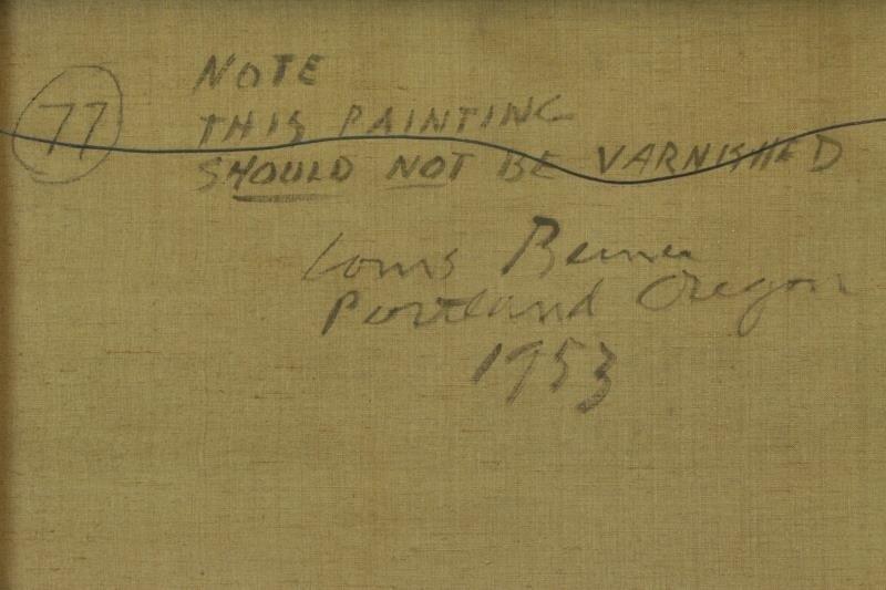 "BUNCE, Louis. Oil on Canvas ""Sea Cliffs"" 1953. - 7"