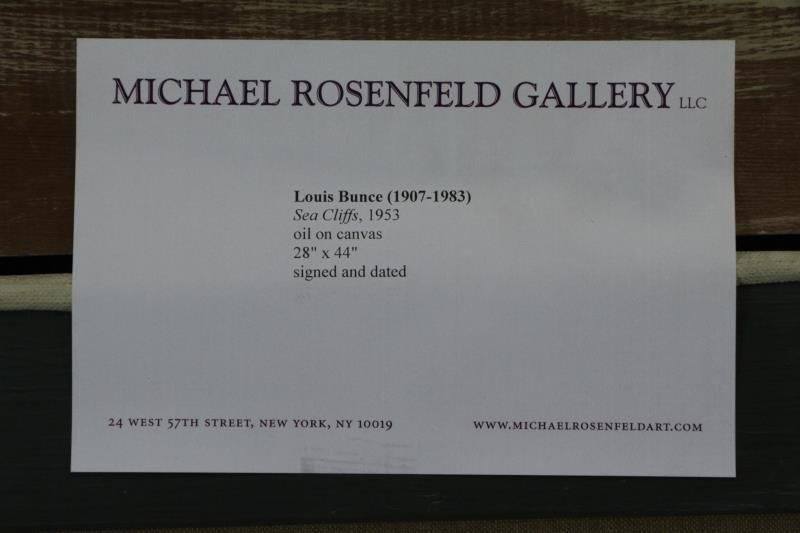 "BUNCE, Louis. Oil on Canvas ""Sea Cliffs"" 1953. - 8"