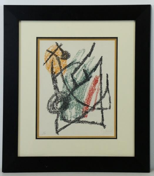 "MIRO, Joan. Color Lithograph ""Je Travaille Comme - 2"