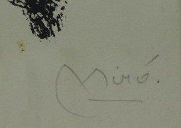 "MIRO, Joan. Color Lithograph ""Je Travaille Comme - 3"