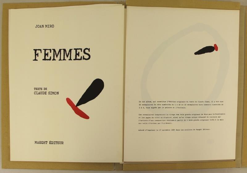 "MIRO, Joan & Claude Simon. ""Femmes"" Portfolio. - 2"
