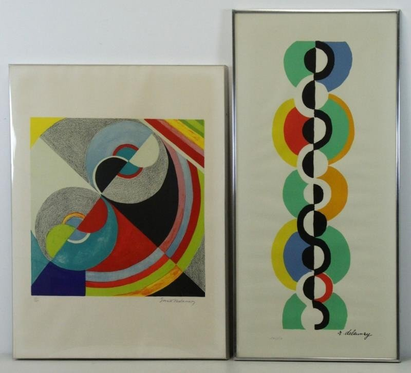 DELAUNAY. Lot of 2 Signed Lithographs.