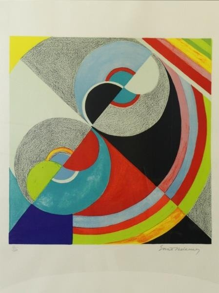 DELAUNAY. Lot of 2 Signed Lithographs. - 2