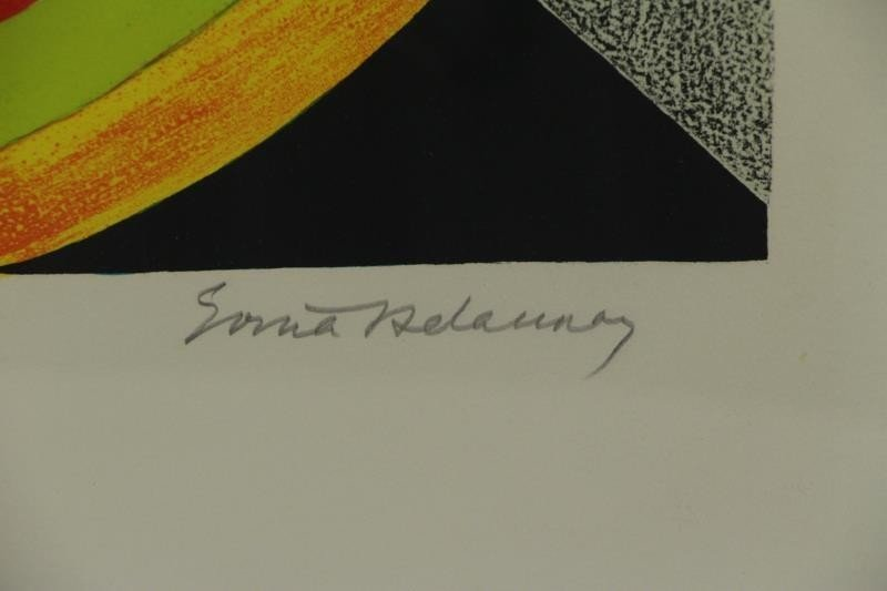 DELAUNAY. Lot of 2 Signed Lithographs. - 3