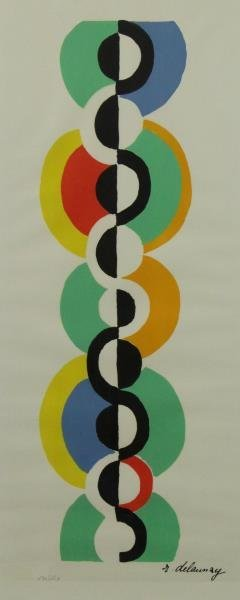 DELAUNAY. Lot of 2 Signed Lithographs. - 6