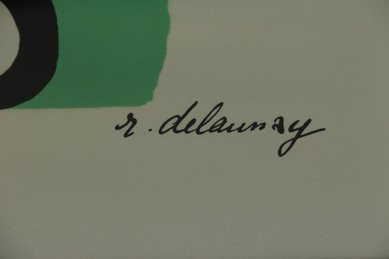 DELAUNAY. Lot of 2 Signed Lithographs. - 7