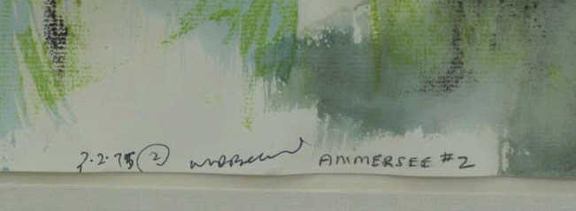 "BANNARD, Walter D. Mixed Media on Paper ""Ammersee - 4"
