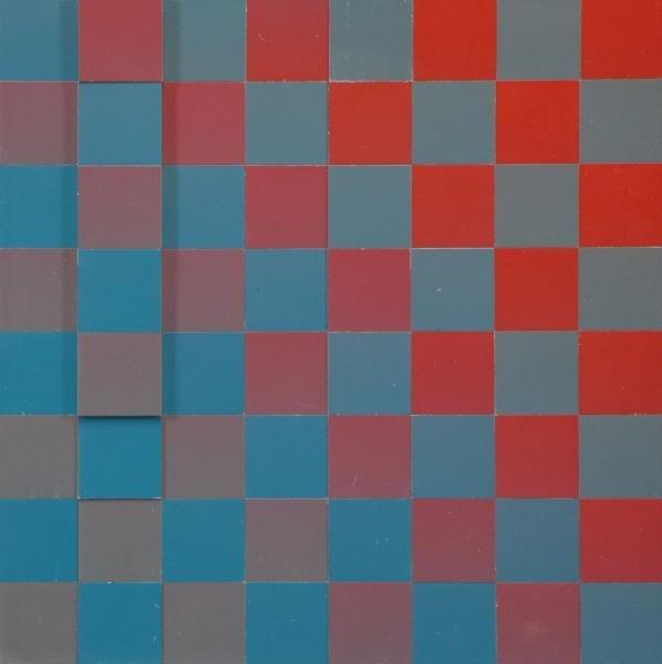 "GERSTNER, Karl. ""Carro 64"" Colored Metal Cubes on"