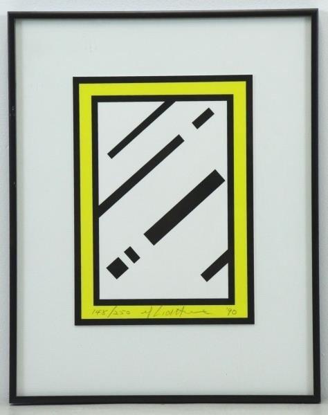 """LICHTENSTEIN, Roy. Color Screen Print """"Mirror"""" - 2"""