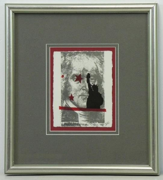 "RAUSCHENBERG, Robert. Lithograph ""Spackle"". - 2"