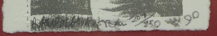"""RAUSCHENBERG, Robert. Lithograph """"Spackle"""". - 3"""