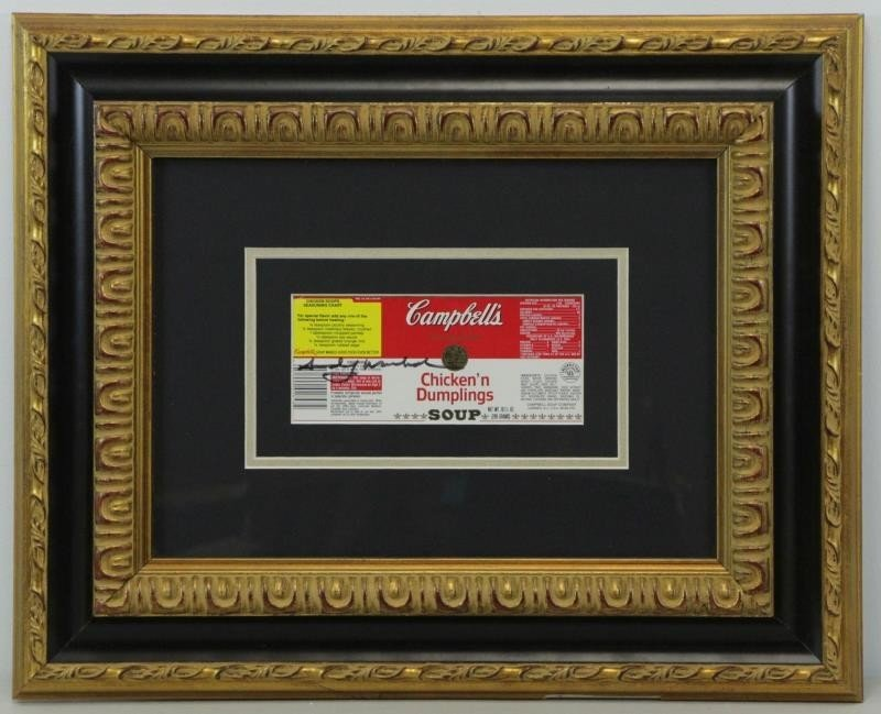 WARHOL, Andy. Signed Campbell's Chicken'n - 2