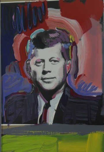 """MAX, Peter. Color Serigraph """"Four Kennedys"""". - 3"""