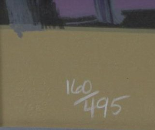 """MAX, Peter. Color Serigraph """"Four Kennedys"""". - 5"""