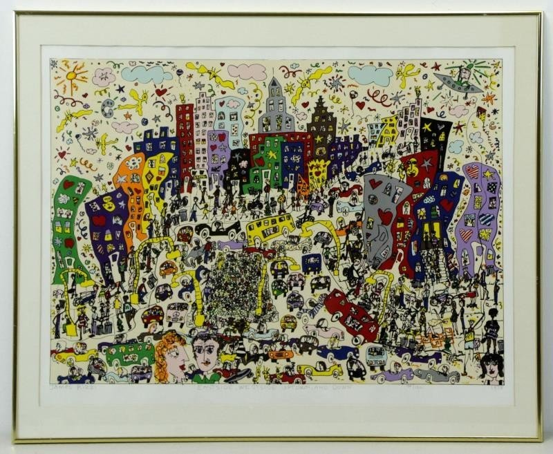 "RIZZI, James. Color Silkscreen ""Eastside, Westside - 2"