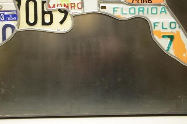 "HANSON, Scott. ""Plates"". License Plates on Steel - 5"