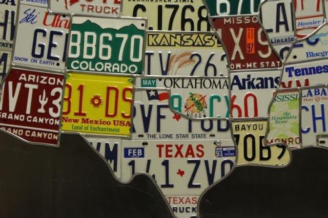 "HANSON, Scott. ""Plates"". License Plates on Steel - 6"