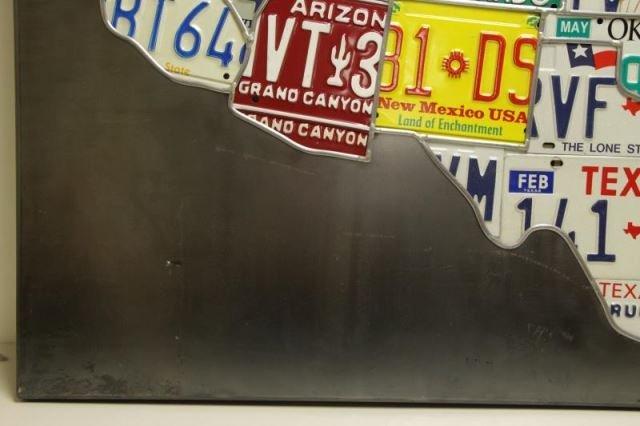 "HANSON, Scott. ""Plates"". License Plates on Steel - 7"