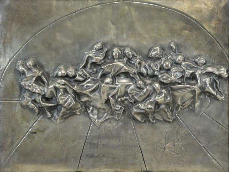 "DALI, Salvador. ""The Last Supper"" Bas Relief"
