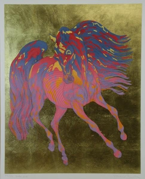 AZOULAY, Guillaume. Serigraph with Gold Leaf