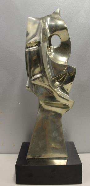 MEYER, Seymour. Signed Polished Bronze Sculpture - 3