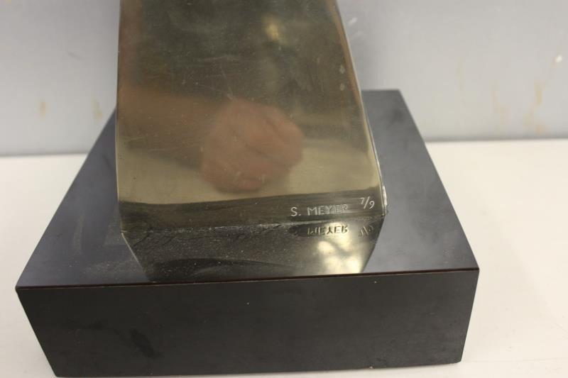 MEYER, Seymour. Signed Polished Bronze Sculpture - 6