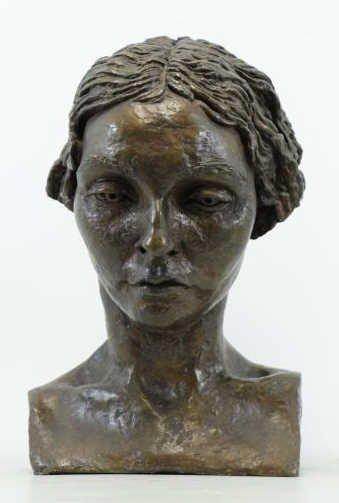 EPSTEIN, Jacob. Bronze Bust. Portrait of Oriel
