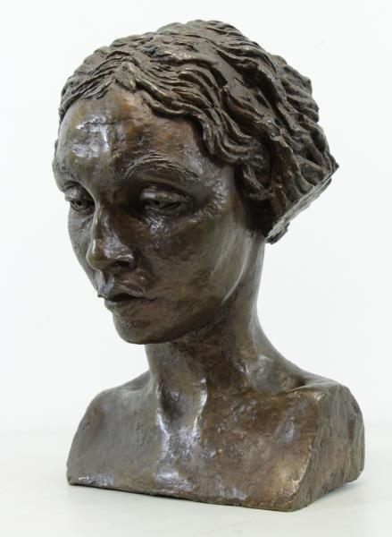 EPSTEIN, Jacob. Bronze Bust. Portrait of Oriel - 2