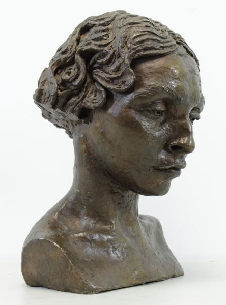 EPSTEIN, Jacob. Bronze Bust. Portrait of Oriel - 3