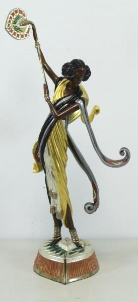 """ERTE. Patinated Bronze """"Arabian Nights"""" 1990."""
