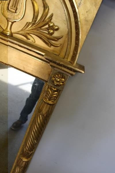 Antique Classical Gilt Wood Carved Pier Mirror - 3