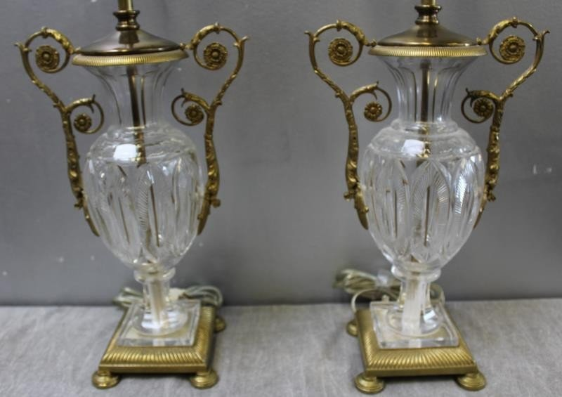 Pair of Fine Quality Cut Glass Gilt Metal Mounted - 2