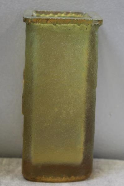 DAUM,Nancy. Signed Art Glass Vase with Gilt Floral - 3
