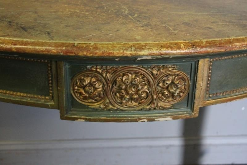 Antique Continental Carved, Paint and Gilt - 4