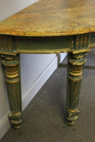 Antique Continental Carved, Paint and Gilt - 5