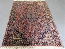 Antique and Finely Woven Sarouk Throw Rug.