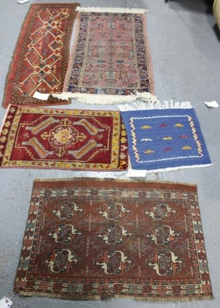 Lot of 5 Assorted Antique Prayer Rugs.