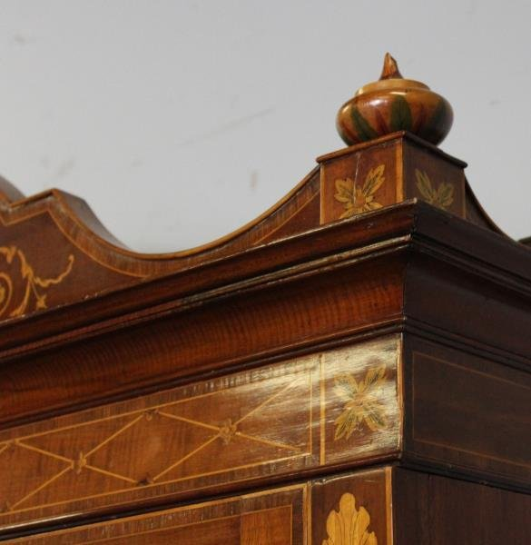 Finest Quality Antique Marquetry Inlaid Bookcase - 3