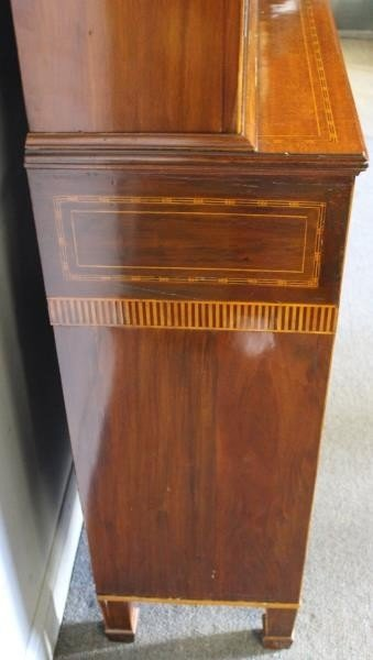 Finest Quality Antique Marquetry Inlaid Bookcase - 6