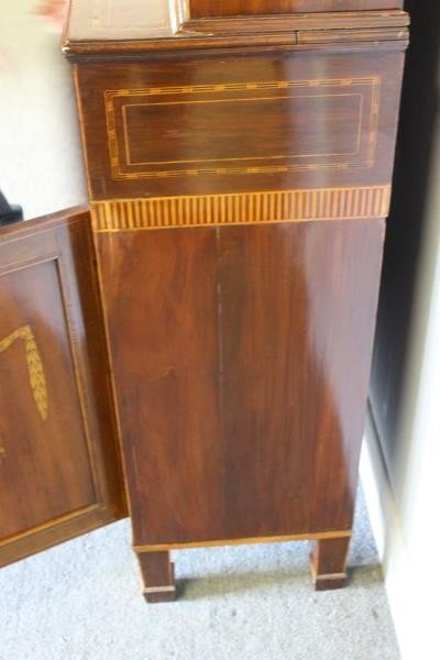 Finest Quality Antique Marquetry Inlaid Bookcase - 8