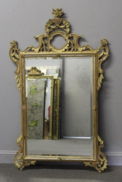 Italian Carved and Giltwood Mirror.
