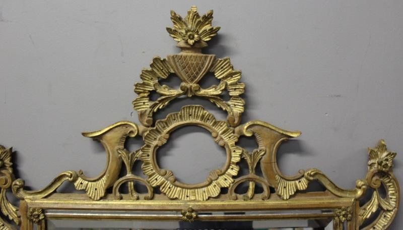 Italian Carved and Giltwood Mirror. - 2