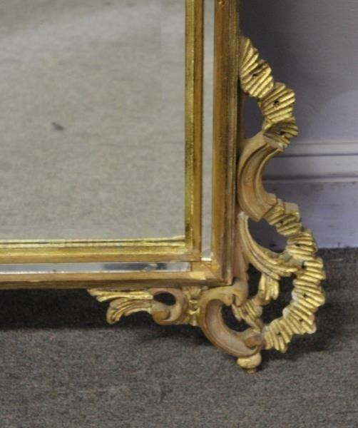 Italian Carved and Giltwood Mirror. - 3