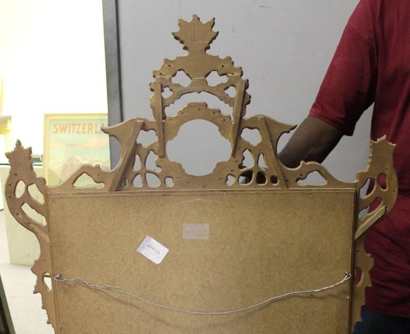 Italian Carved and Giltwood Mirror. - 4