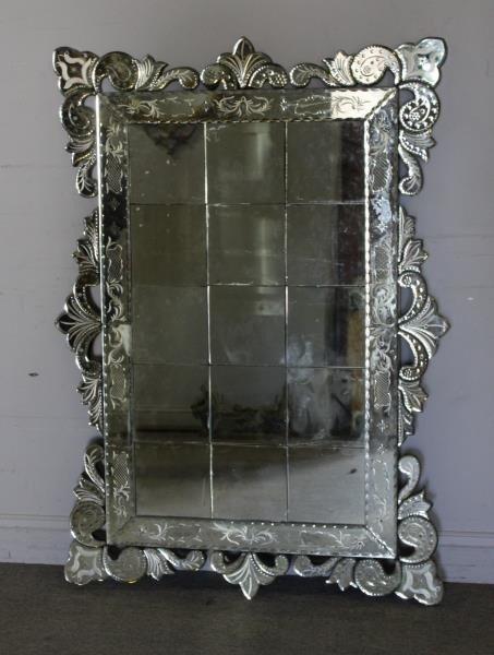 Large Venetian Style Mirror .