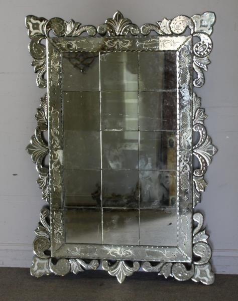 Large Venetian Style Mirror . - 3