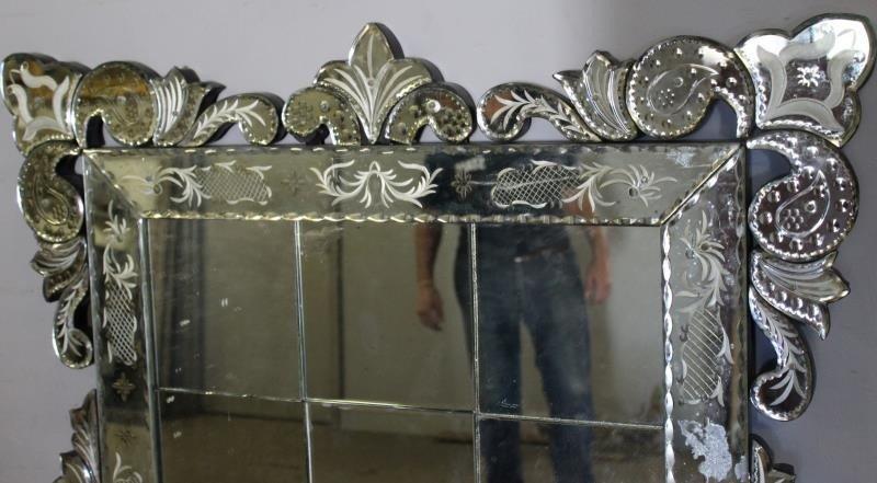 Large Venetian Style Mirror . - 5