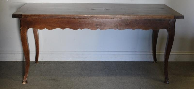 Antique French 2 Drawer Harvest Table.