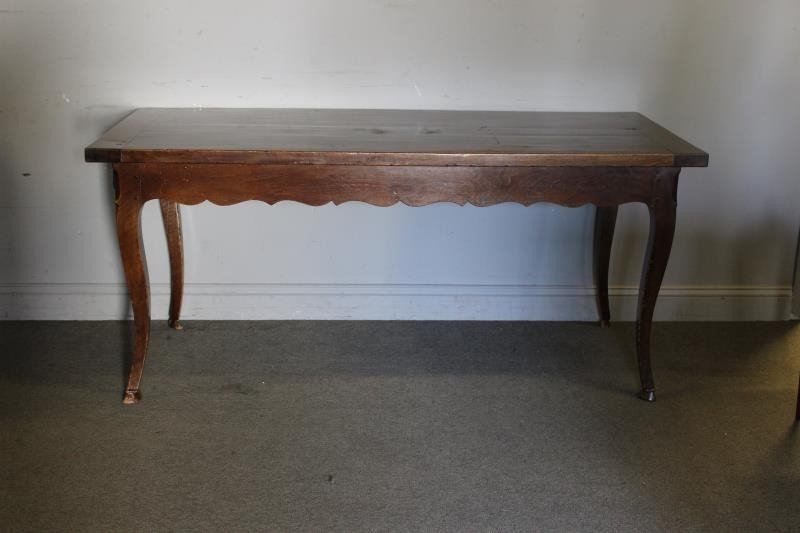 Antique French 2 Drawer Harvest Table. - 2