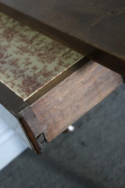 Antique French 2 Drawer Harvest Table. - 3
